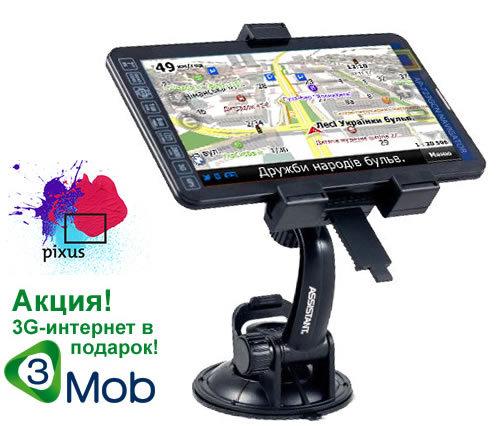 Автомобильный GPS навигатор Pixus Play Three