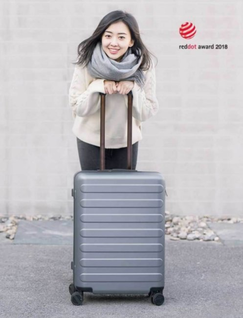 "Чемодан RunMi 90 suitcase Business Travel Quiet Gray 28"" Артикул: 772994"