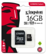 Карта памяти Kingston microSDHC UHS-I 80R 16GB class 10+SD